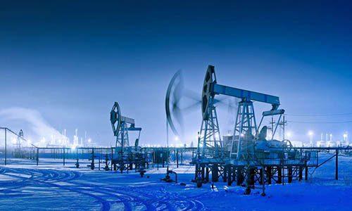 winter night panoramic oil pumpjack the newport group