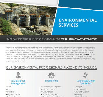 Download Newport Group Environmental Services Overview