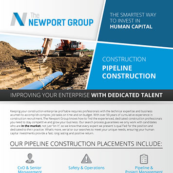 Download Newport Group Facilities And Pipeline Construction Overview
